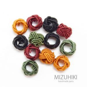 水引 パーツ リング 3個 セット 組み紐 組みひも BLAZE ハンドメイド 材料 手芸|blaze-japan