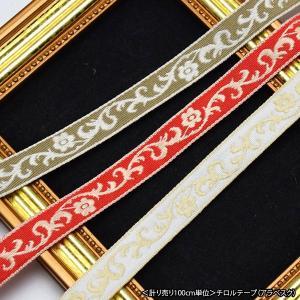 計り売り 100cm単位 チロルテープ アラベスク 約12mm幅|blaze-japan