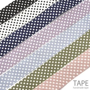 計り売り100cm単位 ポルカ ドット テープ 25mm幅 テープ BLAZE ハンドメイド クラフト|blaze-japan