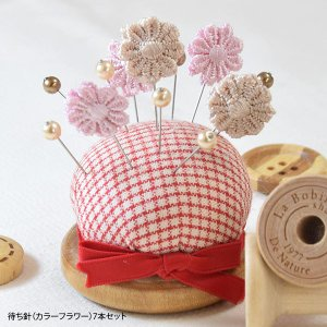 待ち針 カラー フラワー 7本 セット|blaze-japan