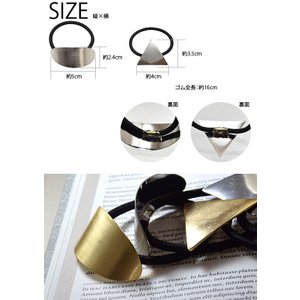 ヘアゴム メタル 楕円 三角 ヘアアクセサリー|blaze-japan|05