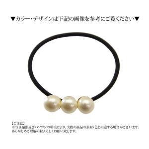 パール ヘアゴム 三連シンプル BLAZE ヘアアクセサリー ヘアアクセ 結婚式|blaze-japan|05