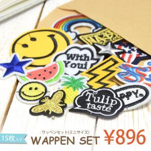 ワッペンセット ミニサイズ15枚入り メール便送料無料 BLAZE ハンドメイド 福袋|blaze-japan