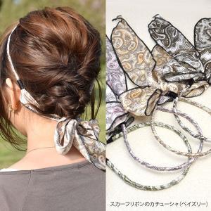 スカーフ リボン の カチューシャ ペイズリー ヘアアクセサリー|blaze-japan