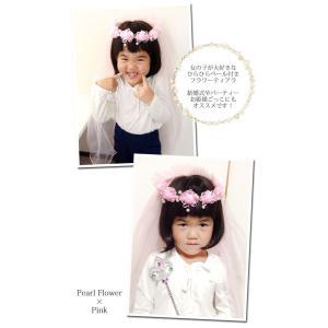 ロング ベール プリンセス フラワー ティアラ ヘアアクセサリー|blaze-japan|02