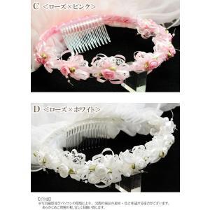 ロング ベール プリンセス フラワー ティアラ ヘアアクセサリー|blaze-japan|05