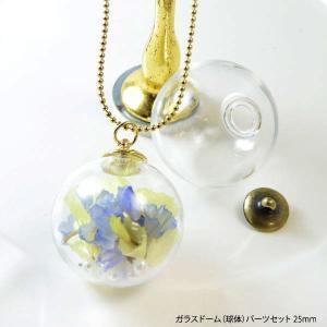 ガラスドーム 球体 パーツ セット 25mm|blaze-japan