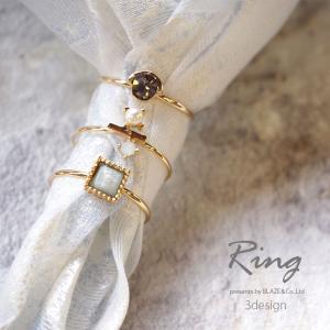 リング ビジュー × ゴールド 11号 BLAZE アクセサリー アクセ 指輪 blaze-japan