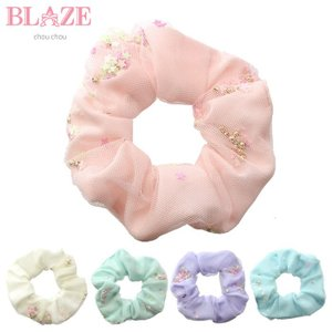 シュシュ ビーズ入り BLAZE ヘアアクセサリーヘアアクセ ジュニア ヘアゴム 髪飾り blaze-japan
