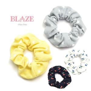 ミニ シュシュ 2個セット 星&さくらんぼ BLAZE ヘアアクセサリー ヘアアクセ 子供 ジュニア ヘアゴム|blaze-japan