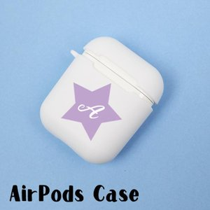 Airpods Airpods2 エアポッズ シリコン TPU 名入れ イニシャル カバー ケース ...