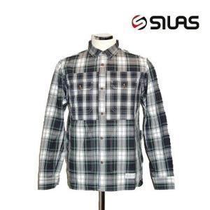 50%OFF SILAS サイラス チェックシャツジャケット 長袖シャツPLAID SHOOTING SHIRT/GREEN bless-web