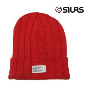 (SOLDOUT)SILAS サイラス ビーニー ニット帽子 カフビーニーWL KNIT CAP/RED bless-web