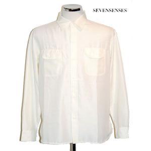 半額セール SEVENSENSES(セブンセンシーズ)オフホワイトシャツUNION RIDERS SHIRT/WHITE bless-web