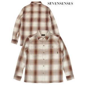 (SOLDOUT)SEVENSENSES(セブンセンシーズ)チェックシャツUNION SHIRT LS CHECK/BROWN bless-web