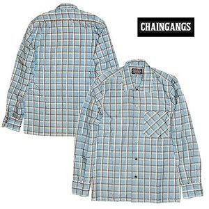 30%OFF CHAIGANG チェインギャング レーヨン リネンシャツRAYON-CHECK/BLUE|bless-web