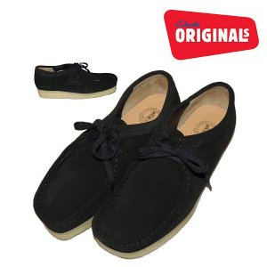 (SOLDOUT)Clarks ORIGINALS クラークスオリジナルズ ワラビー 黒WALLABEE/BLACK SUEDE|bless-web