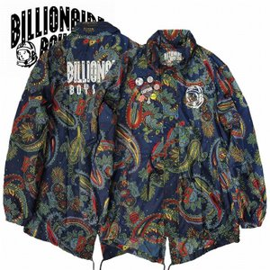 (SOLDOUT)BillionaireBoysClub ビリオネアボーイズクラブ モッズコート ナイロン ペイズリー GLOBETROTTER JACKET bless-web