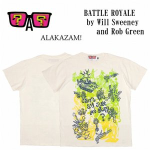 20%OFF ALAKAZAM アラカザム Tシャツ 半袖 グラフィックBATTLE ROYALE by Will Sweeney and Rob Green/OFF WHITE 再入荷|bless-web