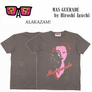 半額セール ALAKAZAM アラカザム Tシャツ 半袖 グラフィックMAS GUERADE by Hiroshi Iguchi/CHARCOAL 再入荷|bless-web