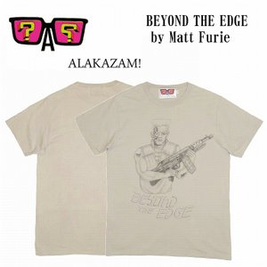 半額セール ALAKAZAM アラカザム Tシャツ 半袖 グラフィックBEYOND THE EDGE by Matt Furie/LT.GREY 再入荷|bless-web