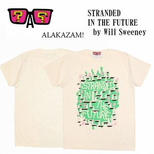 20%OFF ALAKAZAM アラカザム Tシャツ 半袖 グラフィックSTRANDED IN THE FUTURE by Will Sweeney/OFF WHITE 再入荷|bless-web