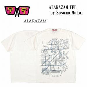 半額セール ALAKAZAM アラカザム Tシャツ 半袖 グラフィック ALAKAZAM TEE by Susumu Mukai/WHITE 再入荷|bless-web