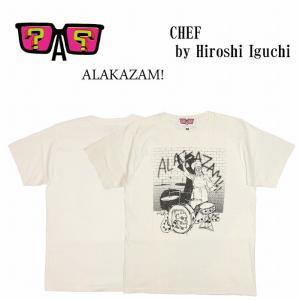 半額セール ALAKAZAM アラカザム 半袖 Tシャツ プリントChef by Hiroshi Iguchi/OFF WHITE|bless-web