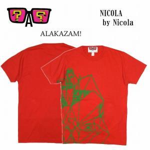 半額セール ALAKAZAM アラカザム Tシャツ 半袖 プリントNicola by Nicola/RED|bless-web