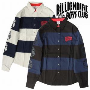 20%OFF BillionaireBoysClub ビリオネアボーイズクラブ 長袖シャツ ボーダーシャツ ヘルメット STRIPE POPLIN SHIRT bless-web