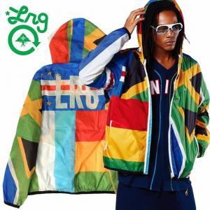 20%OFF LRG エルアールジー ナイロンパーカー 薄手ジャケット UNITED NATIONS WINDBREAKER|bless-web