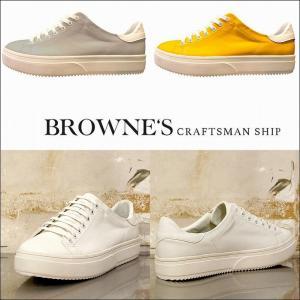 予約終了 BROWNE'S craftsman ship ブラウンズクラフトマンシップ スニーカー 靴 シューズTennis bless-web
