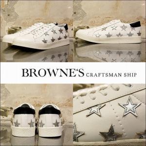 予約終了 BROWNE'S craftsman ship ブラウンズクラフトマンシップ スニーカー 靴 シューズStar sneakers bless-web
