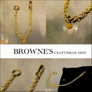 予約終了 BROWNE'S craftsman ship ブラウンズクラフトマンシップ キーチェーン 真鍮 bless-web