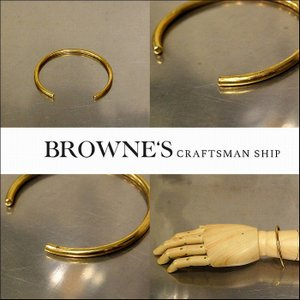 予約終了 BROWNE'S craftsman ship ブラウンズクラフトマンシップ バングル ブレスレット 真鍮 bless-web