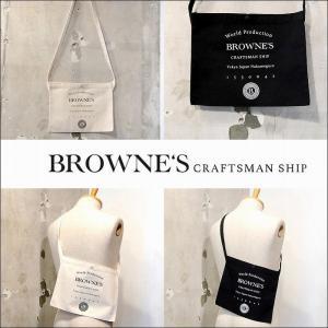 予約終了 BROWNE'S craftsman ship ブラウンズクラフトマンシップ サコッシュ ショルダーバック カバンLogo Sacoche bless-web