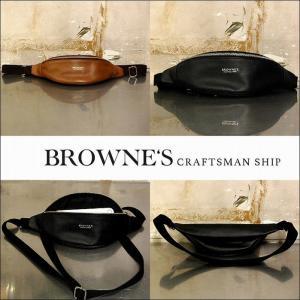 予約終了 BROWNE'S craftsman ship ブラウンズクラフトマンシップ レザー ショルダーポーチLeather Shoulder pouch bless-web