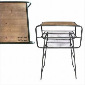 IRONSIDETABLE アイロンサイドテーブル アンティーク加工 ウッド インテリア|bless-web