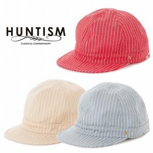 再入荷 HUNTISM ハンティズム ヒッコリーキャップ ストライプ 帽子 Hickory Cap|bless-web