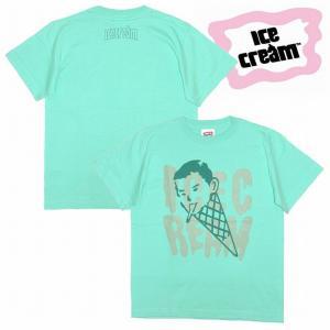 20%OFF ICE CREAM アイスクリーム Tシャツ 半袖 プリントCONEMAN TEE / MINT|bless-web