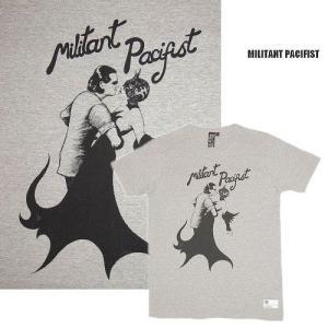 半額セール MILITANT PACIFIST ミリタントパシフィスト ロンドン在中グラフィックTシャツKISS BY WILL SWEENEY/HEATHER GREY|bless-web
