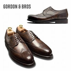 ゴードン&ブロス GORDON&BROS 革靴 シューズ グッドイヤーウェルテッド LEVET2318RB  Wing tip shoes bless-web