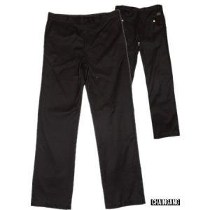 半額セール CHAINGANG(チェインギャング)細めチノパンTROUSER URBAN/BLACK|bless-web