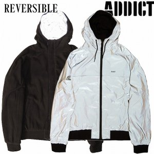 (SOLDOUT)ADDICT アディクト ジャケット リフレクター リバーシブルREFLECTIVE REVERSIBLE WINDCHEATER / BLACK|bless-web