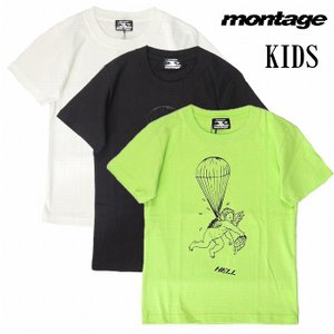 montage モンタージュ キッズ 子供服 Tシャツ 半袖 グラフィック FALLEN ANGEL TEE KIDS|bless-web