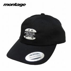 montage モンタージュ キャップ 帽子 ストラップバック p.p BURGER CAP|bless-web