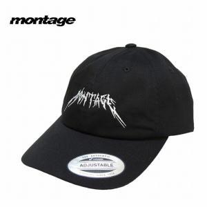 montage モンタージュ キャップ 帽子 ストラップバック JAGGY LOGO CAP|bless-web