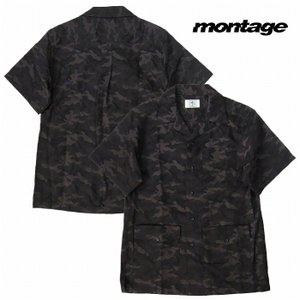 再入荷 montage モンタージュ キューバシャツ 半袖 迷彩シャツ CUBA SHIRTS|bless-web