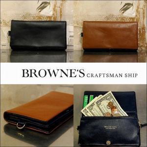 予約終了 BROWNE'S craftsman ship ブラウンズクラフトマンシップ 長財布 ウォレット レザーLong Wallet bless-web