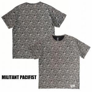半額セール MILITANT PACIFIST ミリタントパシフィスト ペイズリー Tシャツ 半袖DISCHARGE PRINT TEE/BLACK|bless-web